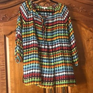 Nordstrom brand multi color new blouse